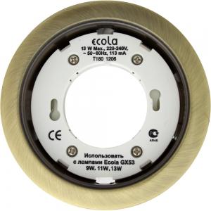 Светильник Ecola GX53 H4 черненая бронза