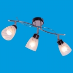 Светильник потолочный модерн 01611/3CR+ BK