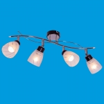 Светильник потолочный модерн 01611/4CR+ BK
