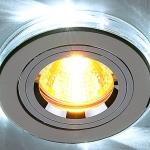 Светильник 2060/2 хром/белый Elektrostandard