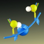 Светильник ODEON LIGHT 2288/2W цветн E14 40W Bird