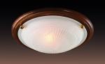 Светильник СОНЕКС 216 дуб/зол E27 2*100W GLASS