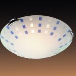 Светильник СОНЕКС 164 хром Н/п E27 100W QUADRO blue