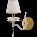 LB 8267/1 золото/белая керамика E14 40W L23W15H30